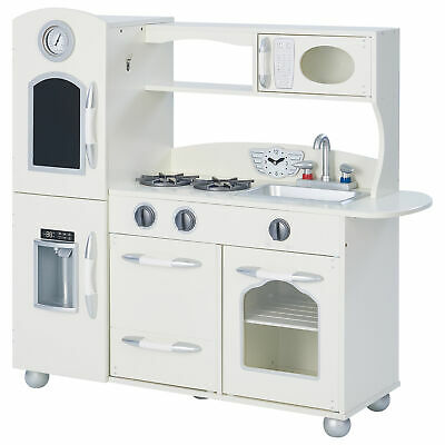 Teamson Kids Childrens Wooden Play Toy Kitchen - Fridge, Freezer & Oven • 139.99£