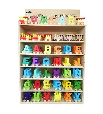 Wooden Train Letters Personalised Luxury Name Gift New Baby Christmas • 1.50£