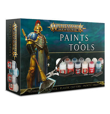 Warhammer Age Of Sigmar Paints & Tools Set • 25.67£