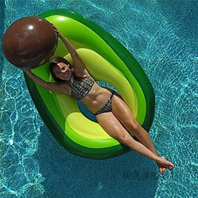 Giant Inflatable Avocado Fruit Swimming Pool Play Float Raft Summer Holiday Toy • 14.99£