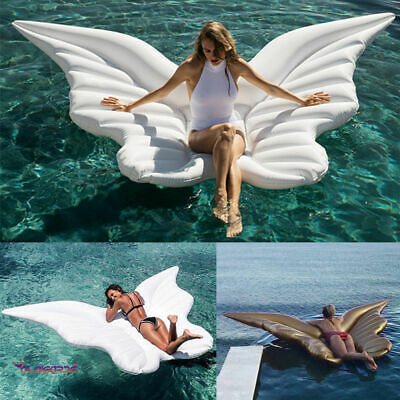 Giant Inflatable Angel Wing Swimming Pool Float Lilo Lounger Toy Summer Beach UK • 17.99£