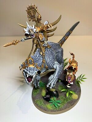 Warhammer Seraphon Carnosaur - Pro-painted And Based With Skink Rider On Coldone • 75£