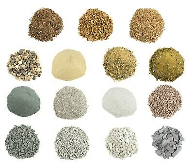 WWS Model Basing Material - Sand Rock Gravel Stone Pebble Cork - Large Selection • 1.99£