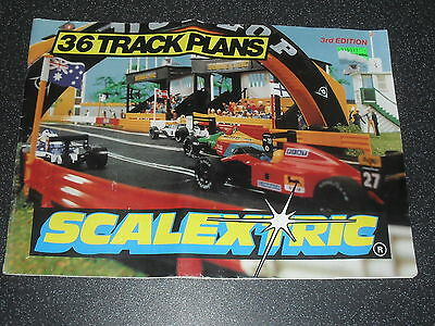 Old Scalextric Track Plans Catalogue 3rd Edition 1993 • 8.95£
