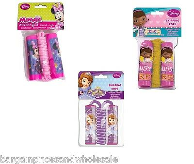 Disney Character Skipping Jump Rope,Minnie Mouse,Sofia,Doc Mcstuffin • 3.49£