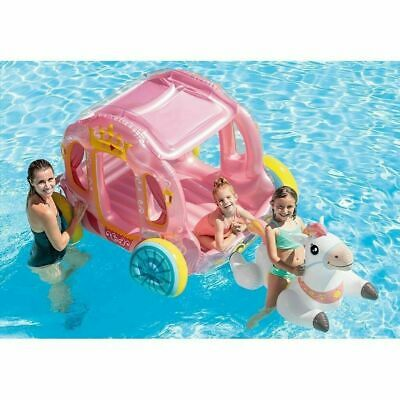 Inflatable Princess Ride On Carriage & Horse Indoor Outdoor Swimming Pool  • 34.99£