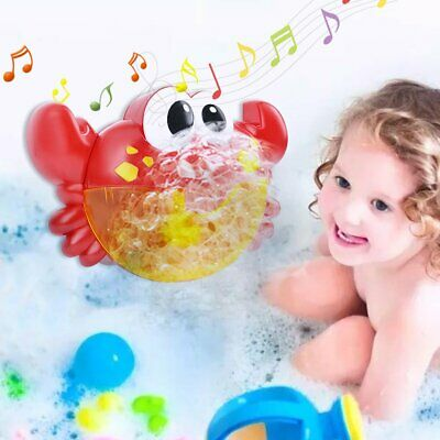 12 Song Musical Crab Bubble Machine Bubble Maker Baby Children Bath Shower Toy • 8.99£