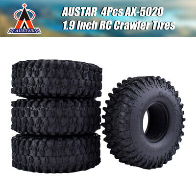 4x 1.9  120mm Rubber Rocks Crawler Tires Tyre For 1/10 Traxxas   AXIAL RC Car • 17.53£