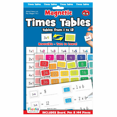 Times Tables Magnetic Chart - Magnetic Set - Fun Daily Educational Activity • 10.90£