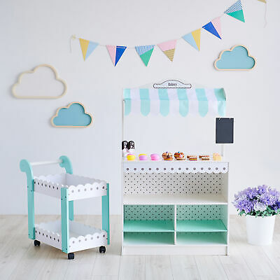 Teamson Kids  My Dream Bakery Shop Dessert Stand  White / Mint TD-13003A • 84.99£
