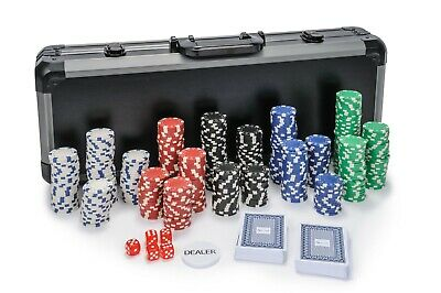 Dice Poker Chips Set - 500 Piece Poker Set In Carry Case (Free Extras) • 54.99£