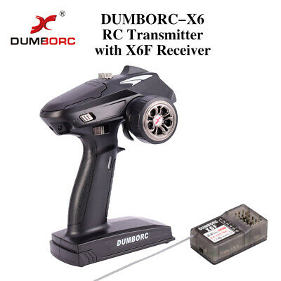 DUMBORC-X6 6CH 2.4G RC Radio Controller Transmitter Mixed Mode+X6F Receiver UK • 29.35£