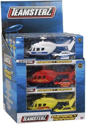 Toy Emergency Response Toy Helicopter And Car - Police | Fire Engine | Rescue  • 5.95£