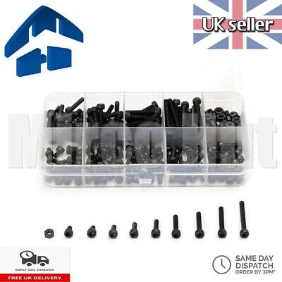 360pcs M2 Steel 3-20mm Bolt Screws Nuts Hex Allen Socket Kit - For RC Drones Etc • 11.95£
