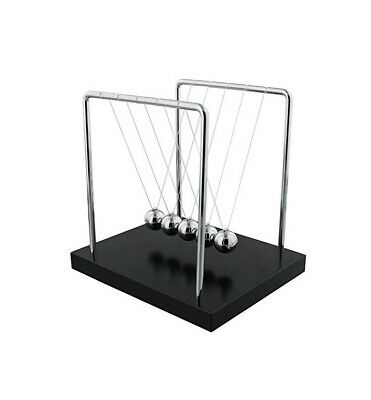 UK Large Newtons Cradle Toy Balance Ball Physics Science Executive Office Gift • 21£