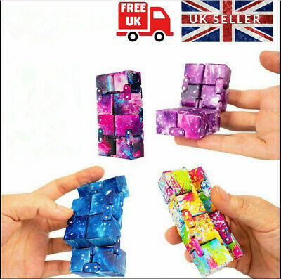 Sensory Infinity Cube Stress Fidget Toys For Autism Anxiety Relief Kids Adult UK • 3.55£