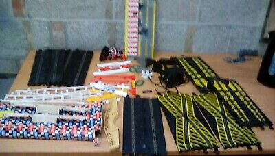 Vintage Scalextric Joblot,controller,powerpack,barriers,track,bridges,supports E • 19.99£