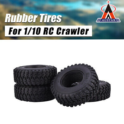 4Pcs AUSTAR 1.9 Inch 105mm Rubber Tires Tyre For 1/10 Traxxas SCX10 RC Crawler • 11.69£