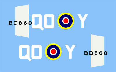 Dinky Hawker Hurricane 718 Authentic Style Squadron Markings. (QOY) • 3£