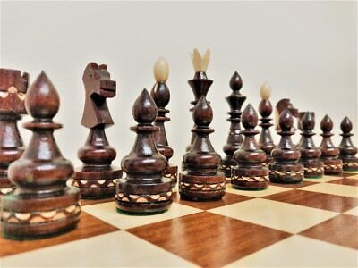 Wooden Chess Set  Hand Crafted Large 50 X 50 Hand Made Woodeeworld • 79.99£