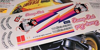 Funny Ramp Rat Ratlook Theme Vinyl Stickers Fits Tamiya Lunch Box & Tyre Decals • 9.95£