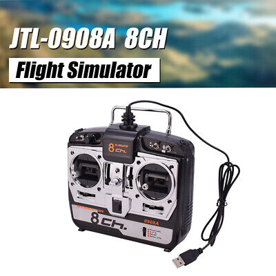 JTL-0904A 8CH RC Flight Simulator Support Real G7 Phoenix 5.0 XTR RC Drone MODE2 • 26.40£