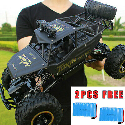 Kids Toy 4WD RC Car Monster Truck Off-Road Vehicle 2.4G Remote Control Buggy UK • 53.79£