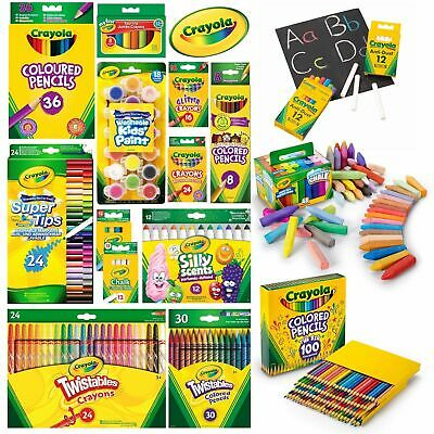 Crayola Crayons, Markers, Colouring Pencils, Paints, Supertips, Chalk And More! • 7.99£