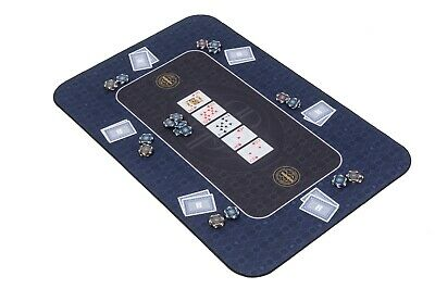The Broadway Poker Mat In Blue By Riverboat Gaming - 100x65cm (Poker Table Top) • 44.99£