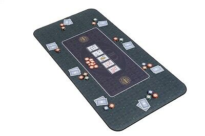 The Broadway Poker Mat In Green By Riverboat Gaming - 140x75cm (Poker Table Top) • 54.99£