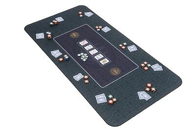 The Broadway Poker Mat In Green By Riverboat Gaming - 180x90cm (Poker Table Top) • 64.99£