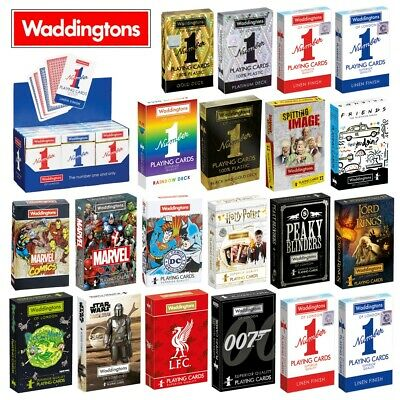 Waddingtons Poker Playing Cards & Card Games - Classic, Marvel, DC, Harry Potter • 4.49£