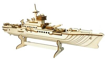 Destroyer Warship BattleShip 3D Jigsaw Wooden Model Construction Kit Puzzle Gift • 12.95£
