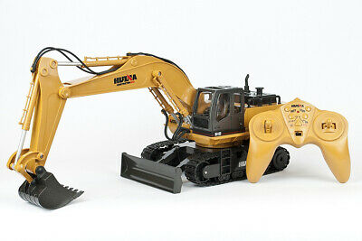 HUINA 1:16 RC Excavator - Full 11 Channel Function And Metal Bucket! • 43.98£