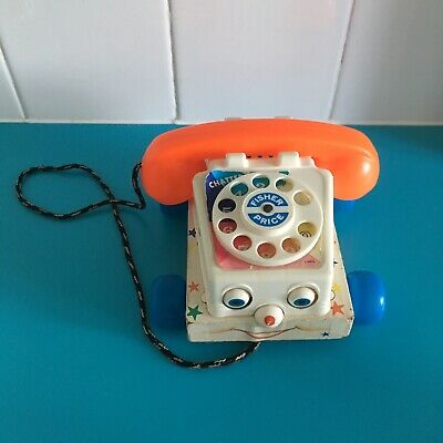 Vintage Fisher Price Telephone Toy Childs Retro Iconic Display Pull Along Kids • 8£