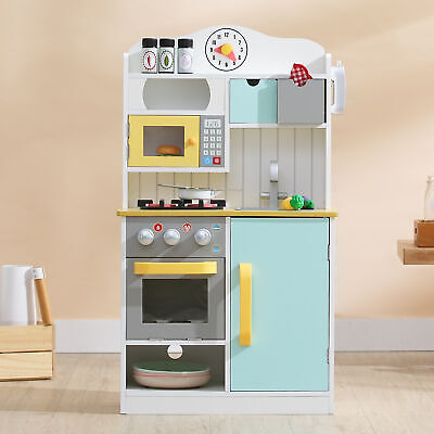 Teamson Kids Wooden Play Kitchen Toy Cooker For Boys & Girls With Phone & • 74.99£