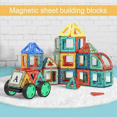 105 Pcs Kids DIY 3D Magnetic Blocks Multicolour Construction Building Toy Puzzle • 11.99£
