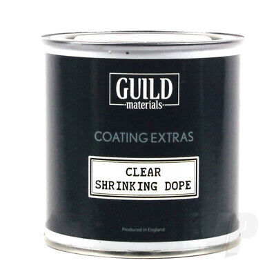 Guild Materials Clear Shrinking Dope (250ml Tin) For RC Model Aircraft • 11.74£