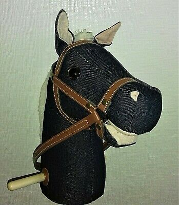 Hobby Horse With Sounds And Wheels (Dark Denim) • 17.99£