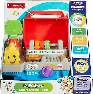 Fisher Price Toys Laugh And Learn Smart Stages BBQ Grill  Includes Smart Stages • 13.99£