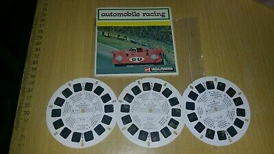 Automobile Racing Viewmaster Reels 1971 Set D112 - E • 15£