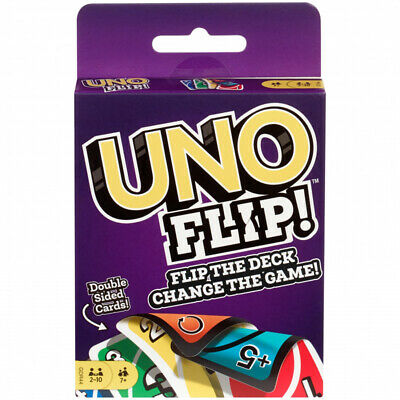 Mattel Games Uno Flip Classic Card Game, Action Family Kids Game, 2-10 Players • 8.99£