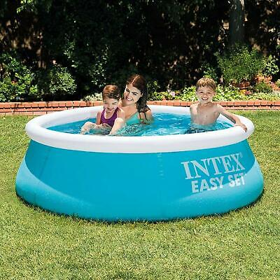 6ft X 20in Easy Set Inflatable Swimming Pool Summer Water Outdoor Kids Family • 24.98£