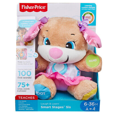 Fisher-Price Laugh & Learn Smart Stages First Words Sis Puppy Teddy, 6 Months + • 19.99£