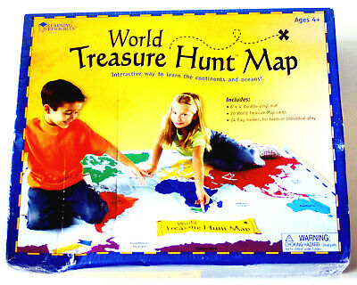 Learning Resources World Treasure Hunt Map • 29.99£