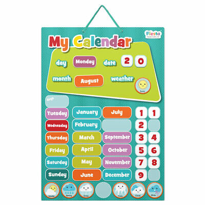 My Calendar Blue - Small - Magnetic Set - Fun Daily Educational Activity • 10.90£