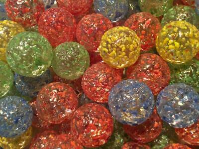25 DRAGON FROST GLASS MARBLES Mixed Colours 16mm Timeless Traditional   • 2.80£