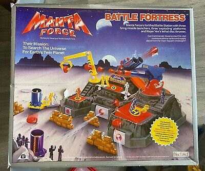 Rare Bluebird Manta Force Battle Fortress Vintage Space Toy Collectible • 45£