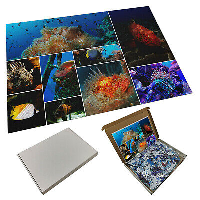 Personalised Collage 1000 Piece Jigsaw Puzzle Any Images & Text - Brand New • 24.99£