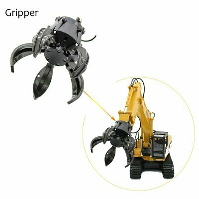 For HUINA 571 RC Excavator Alloy Gripper Tongs Catcher Clip Ball Grabber Machine • 14.01£